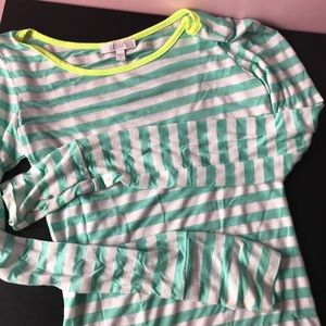 Delia's Striped Long Sleeve T Shirt Small